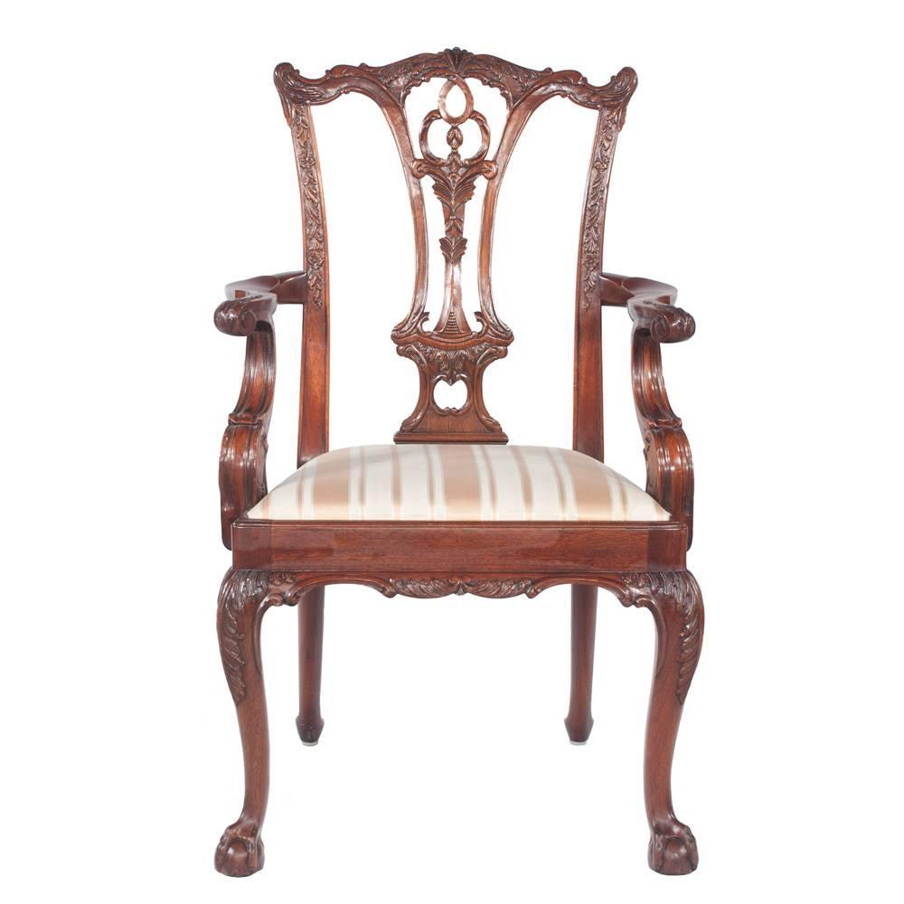 Chippendale Dining Room Chairs: Chippendale Style Dining Chairs, S/8 At 1stdibs