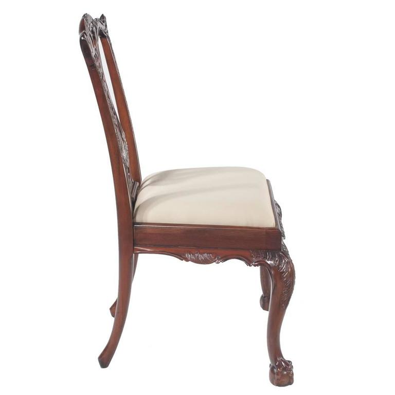 Chippendale Mahogany Dining Chairs, S/10 For Sale 5