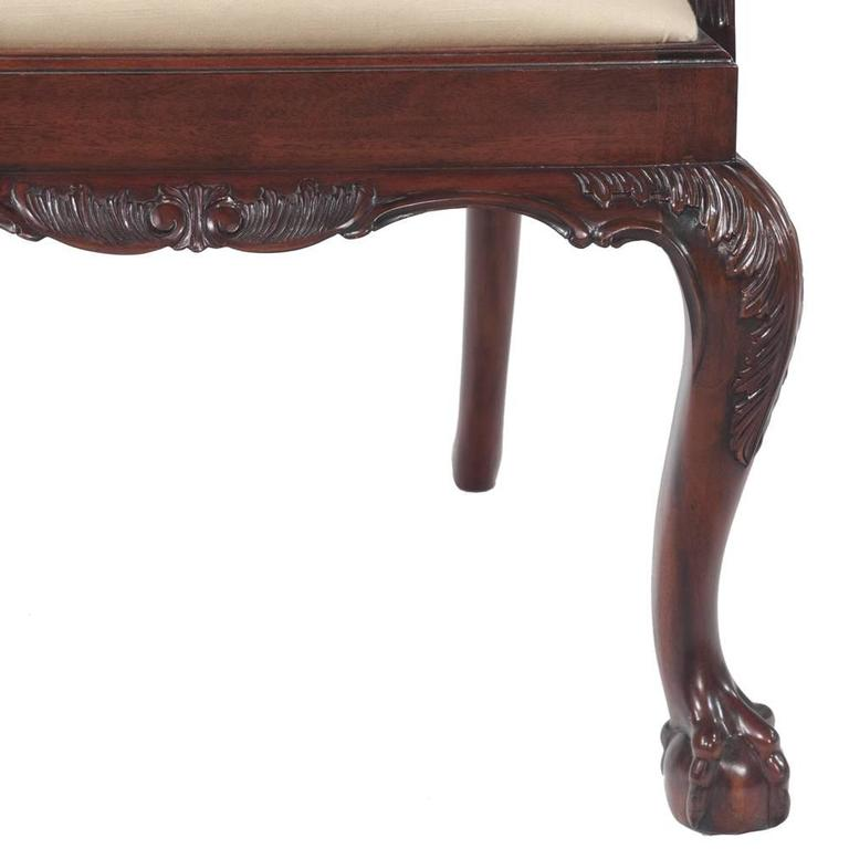 Chippendale Mahogany Dining Chairs, S/10 For Sale 1
