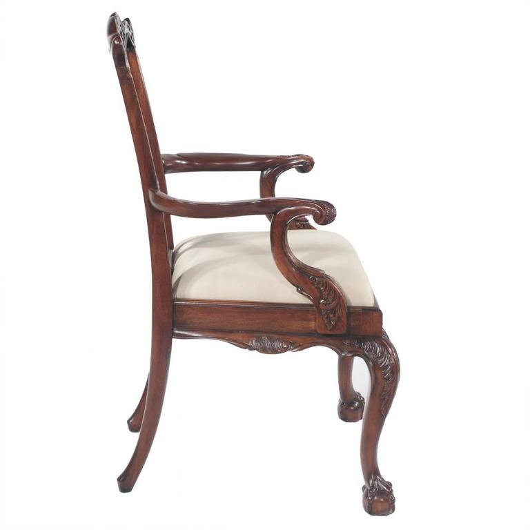 Chippendale Mahogany Dining Chairs, S/10 For Sale 2