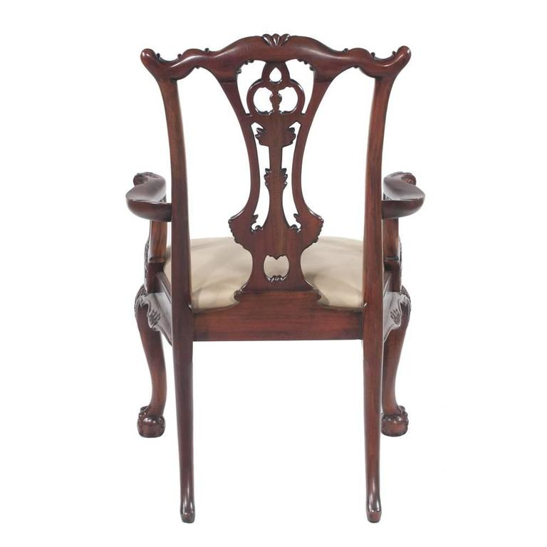 Chippendale Mahogany Dining Chairs, S/10 For Sale 4