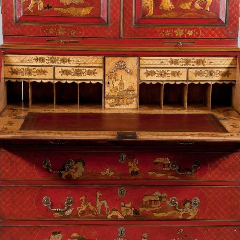 Queen Anne Chinoiserie Secretary For Sale 2