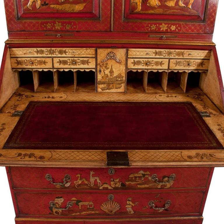 Queen Anne Chinoiserie Secretary For Sale 3