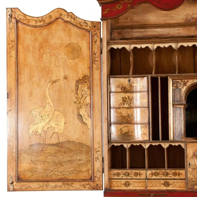 Queen Anne Chinoiserie Secretary For Sale 4