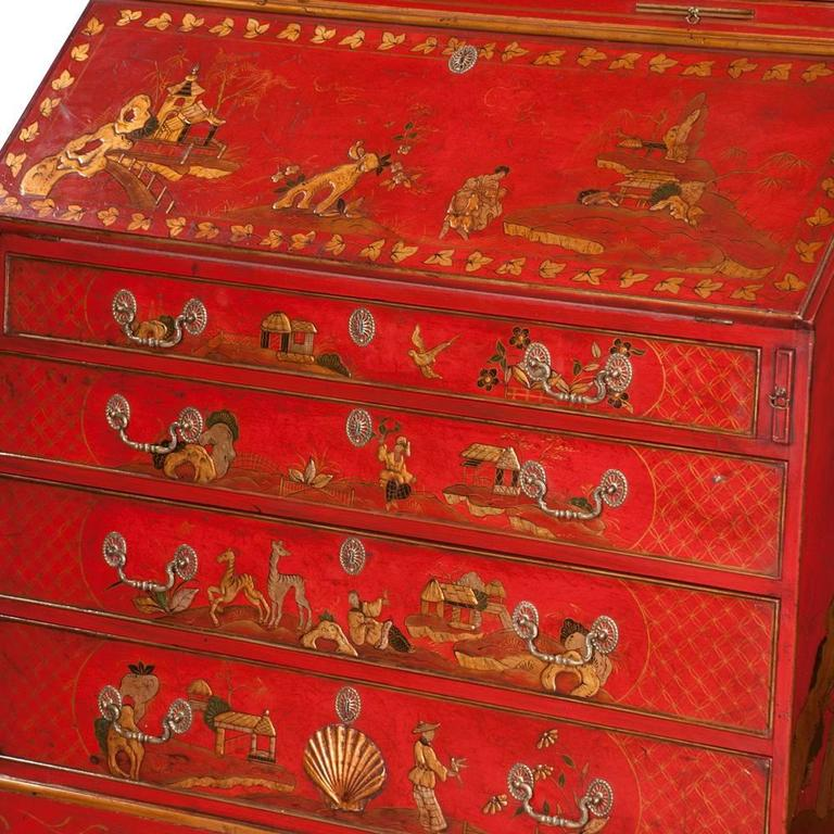 English Queen Anne Chinoiserie Secretary For Sale