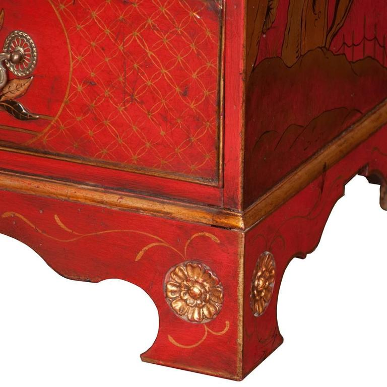 Mid-19th Century Queen Anne Chinoiserie Secretary For Sale