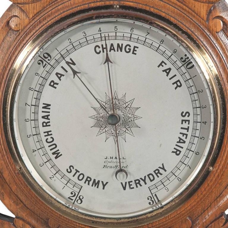English Oak Barometer For Sale 3