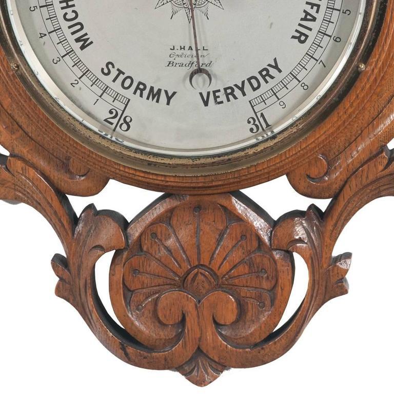 English Oak Barometer For Sale 2