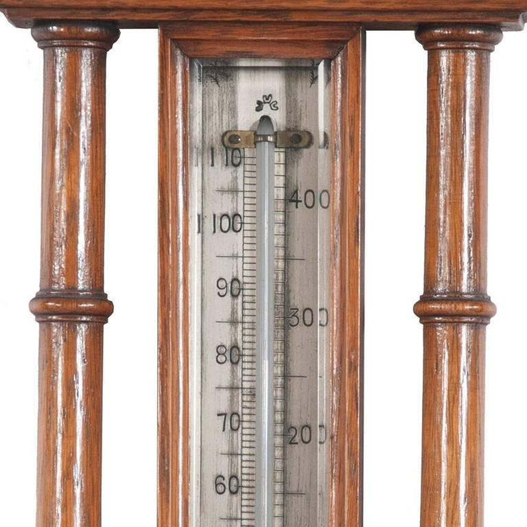 English Oak Barometer For Sale 1