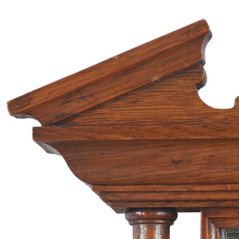 English Oak Barometer In Good Condition For Sale In Lawrenceburg, TN