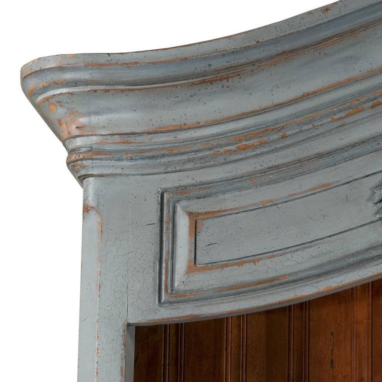 Late 20th Century Country French Two-Part Cabinet For Sale