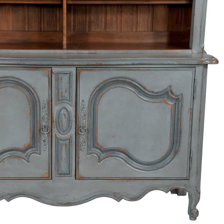 Country French Two-Part Cabinet For Sale 6