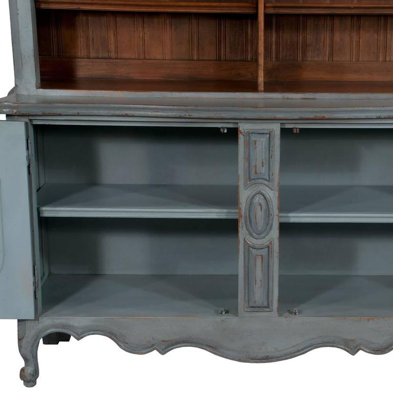 Country French Two-Part Cabinet For Sale 4