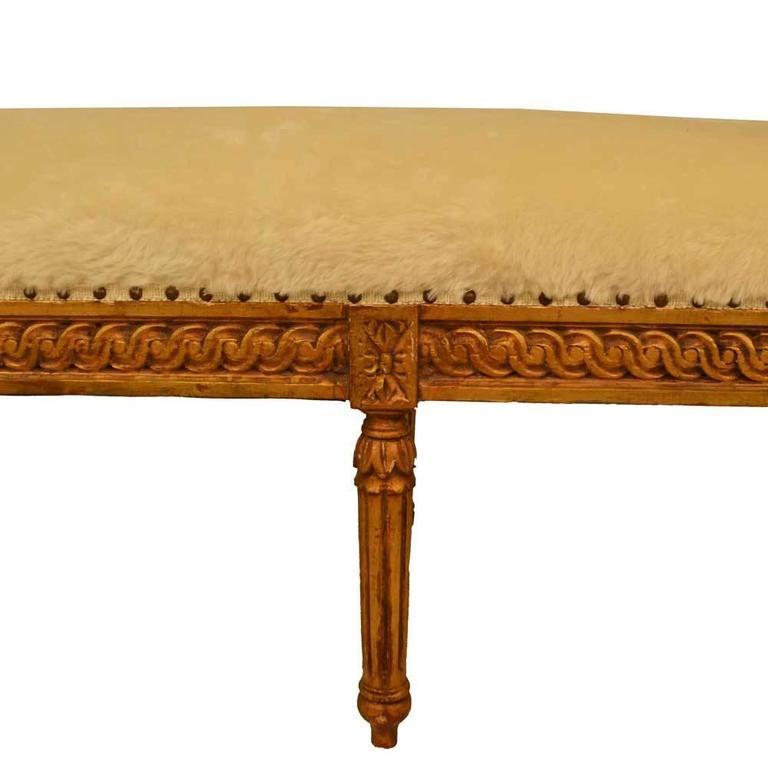 Gilt Louis XVI Bench