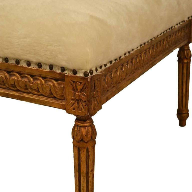 Mohair Louis XVI Bench