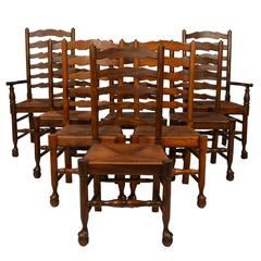 Lancashire Ladderback Chairs, Set of Eight