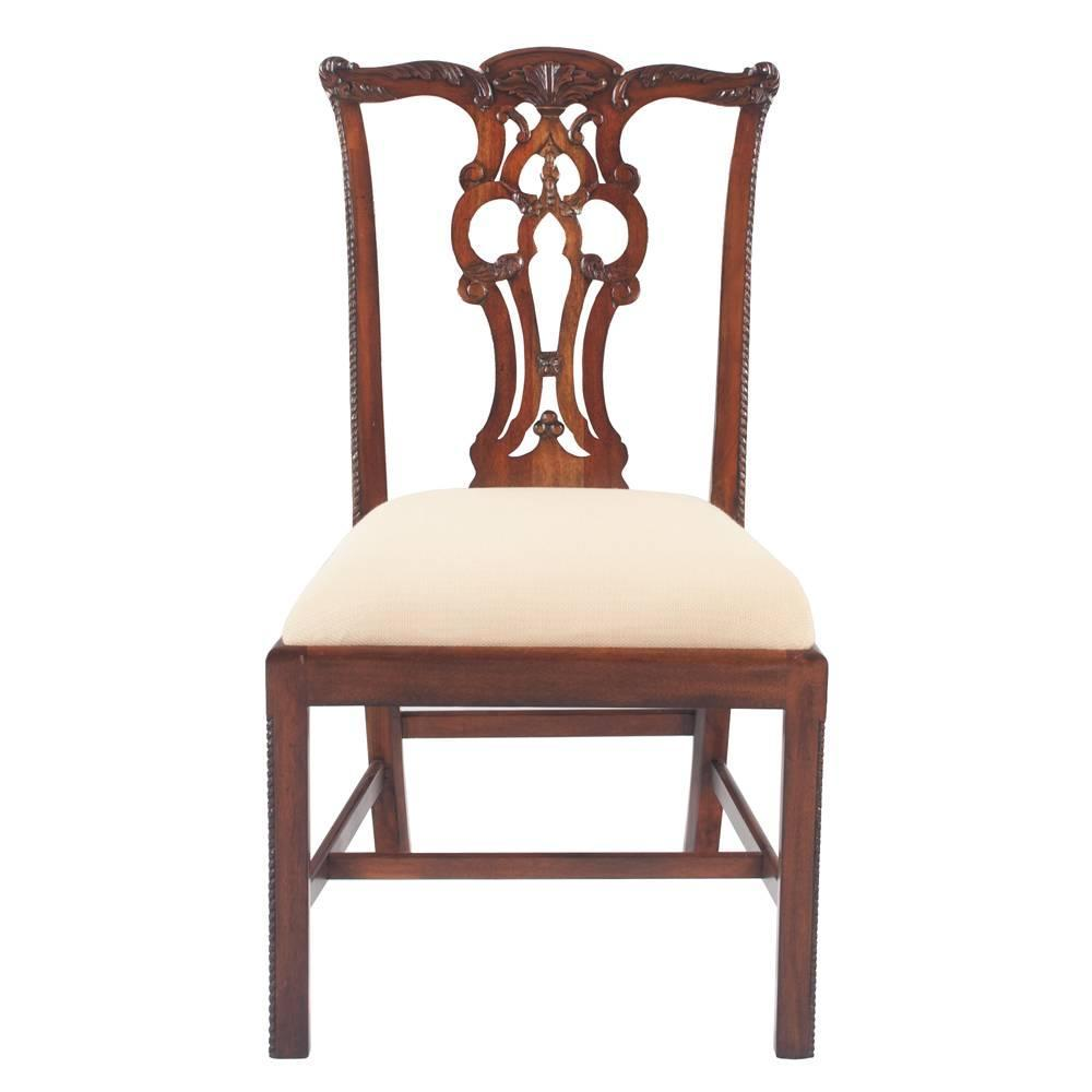 Chippendale mahogany dining chairs set of eight at 1stdibs for 8 dining room chairs