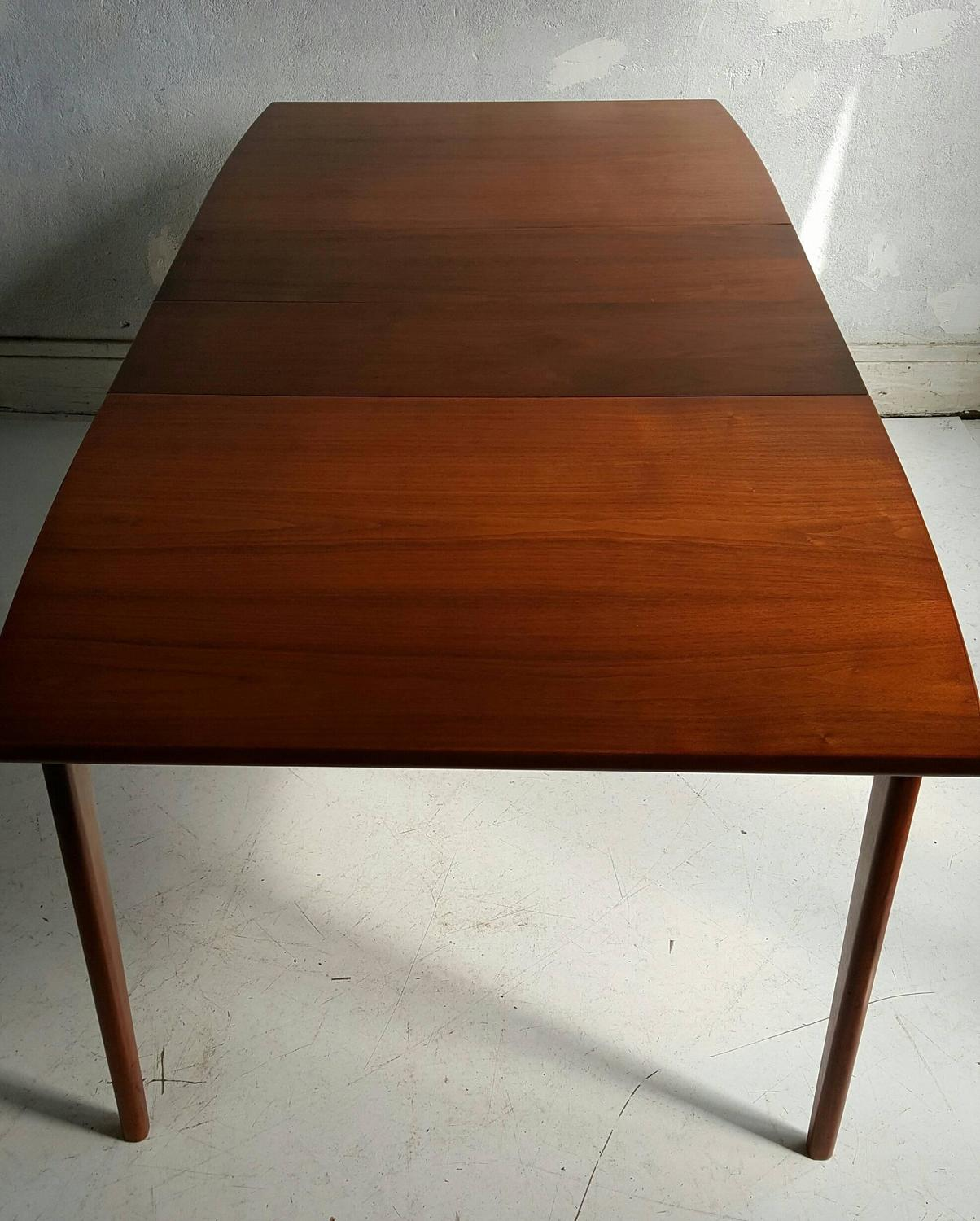 classic modernist walnut dining table lane perseption for sale at