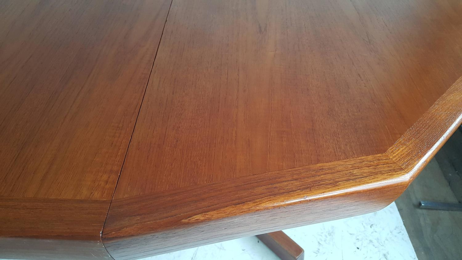 Unusual modernist crafts teak expandable dining table for 3 sided dining room table