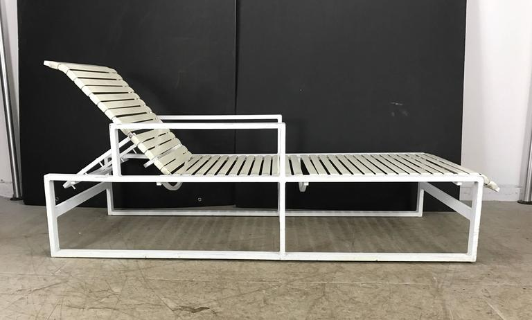 Pair Of Modernist Architectural Pool Side Or Garden Chaise