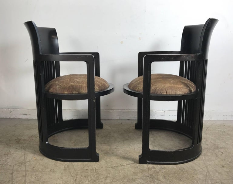 American Pair of 606 Barrel Taliesin Chairs Frank Lloyd Wright for Cassina For Sale