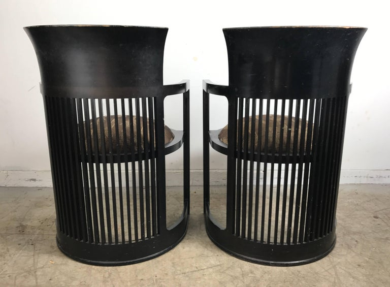 Pair of 606 Barrel Taliesin Chairs Frank Lloyd Wright for Cassina In Good Condition For Sale In Buffalo, NY