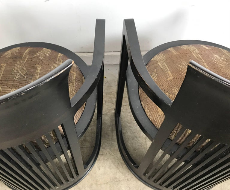 20th Century Pair of 606 Barrel Taliesin Chairs Frank Lloyd Wright for Cassina For Sale