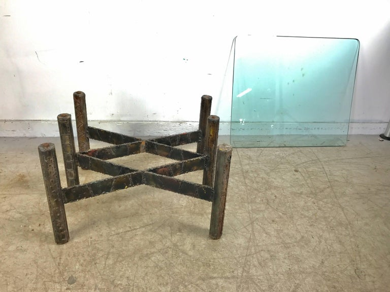 Paul Evans Welded Steel Brutalist Cocktail Table For Sale At - Welded table base