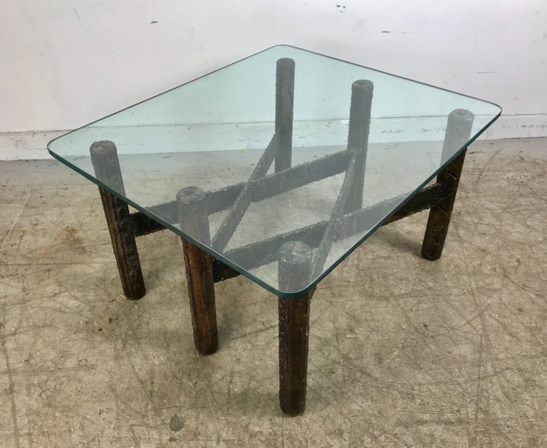 Paul Evans Welded Steel Brutalist Cocktail Table For Sale At - Welded coffee table