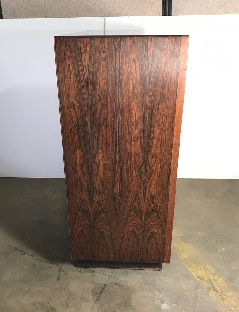 20th Century Stunning Rosewood Falster Seven-Drawer Chest Made in Denmark For Sale