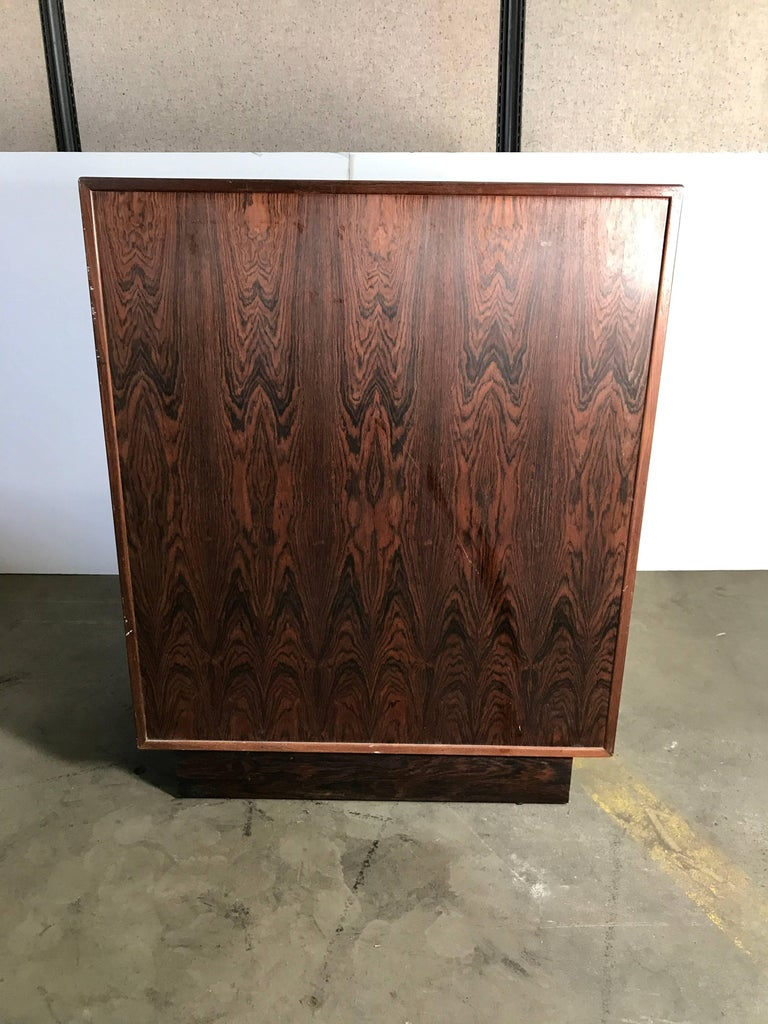 Stunning Rosewood Falster Seven-Drawer Chest Made in Denmark For Sale 1