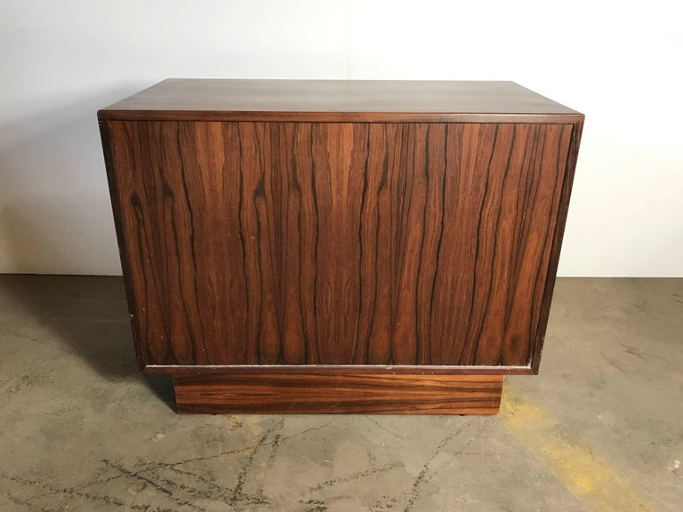 20th Century Stunning Rosewood Falster Four-Drawer Chest Dresser Made in Denmark For Sale