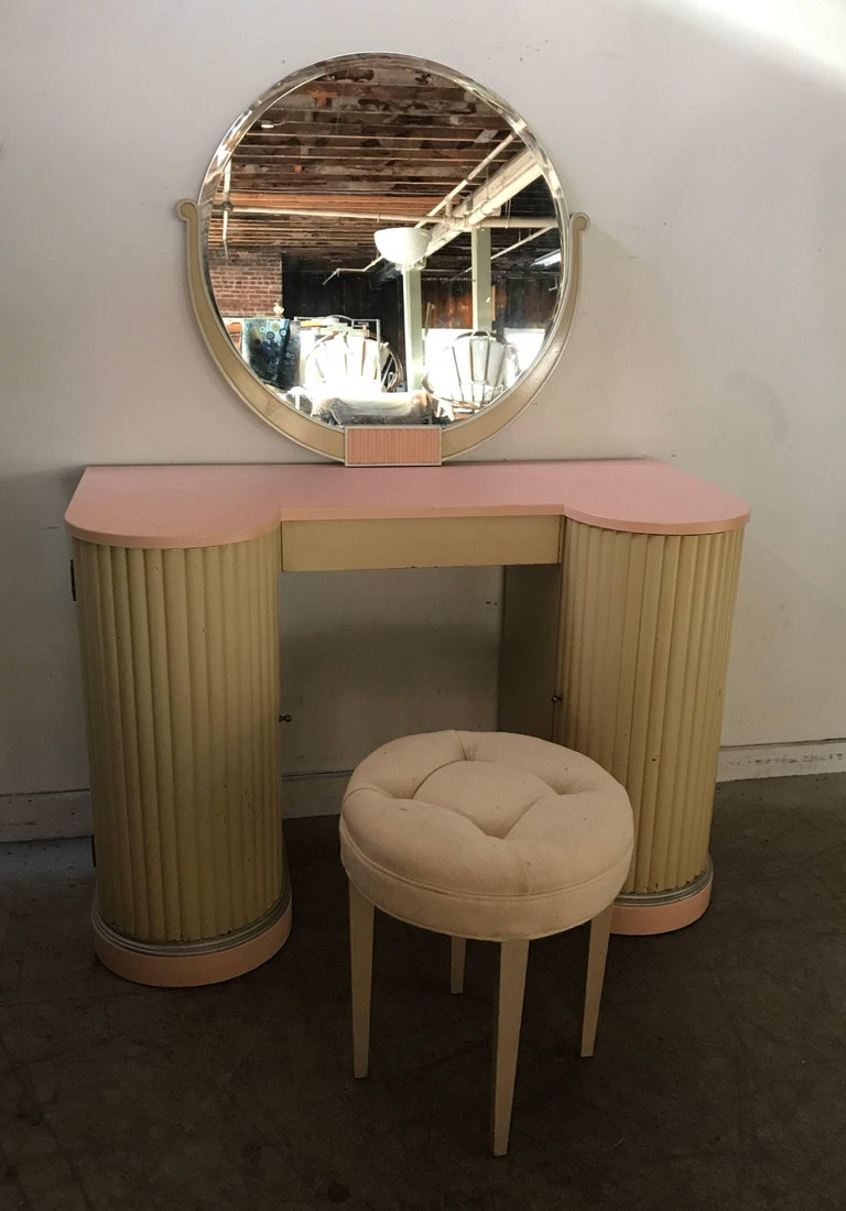 vanity dressing table with mirror makeup lacquered american art deco vanity dressing table mirror stool by kittinger furn co