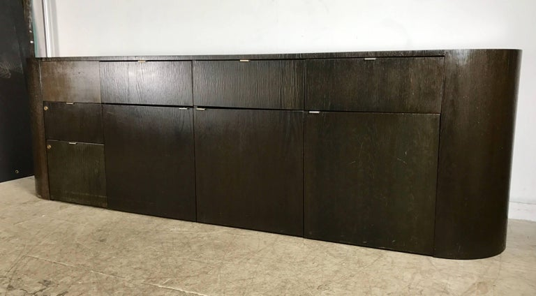 Stunning Contemporary Modern Oval Cerused Credenza Sideboard, Italy on oval mirror, oval bench, oval vanity, oval bassinet, oval rug, oval shelves, oval commode, oval lighting, oval dresser, oval furniture, oval closet, oval dining room set,