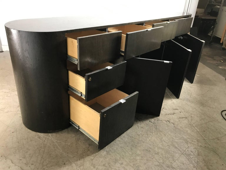 Stunning Contemporary Modern Oval Cerused Credenza Sideboard, Italy on oval bassinet, oval shelves, oval dining room set, oval mirror, oval bench, oval vanity, oval furniture, oval commode, oval rug, oval closet, oval lighting, oval dresser,