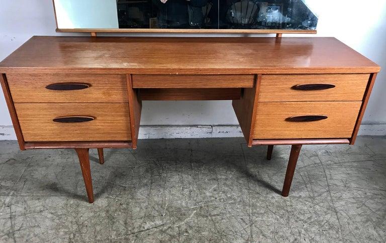 Danish Unusual Modernist Vanity/Desk Made in Denmark For Sale