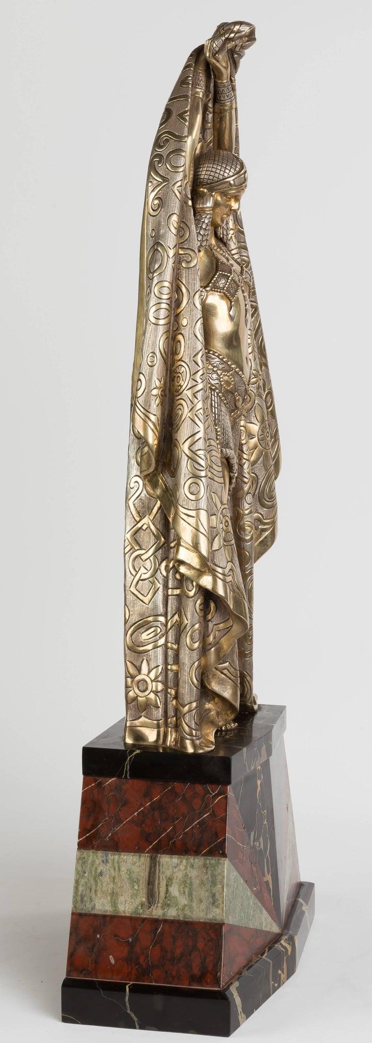 French Demetre Chiparus Art Deco Bronze Sculpture
