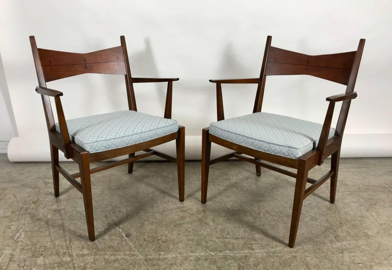 Stupendous Set Of Six Mid Century Modern Dining Chairs Lane Tuxedo Bralicious Painted Fabric Chair Ideas Braliciousco