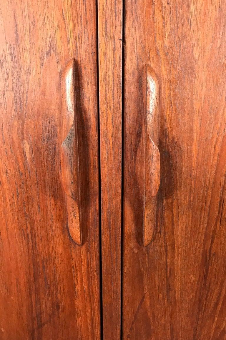 Scandinavian Modern Danish Modern Teak Two-Door Cabinet, Manner of Arne Vodder For Sale