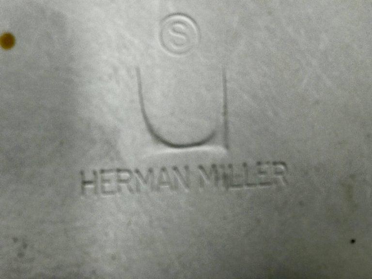 Aluminum Six Classic Fiberglass Swivel Side Shell Chairs Charles Eames, Herman Miller For Sale