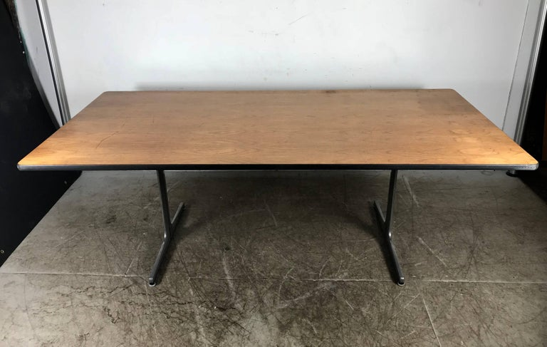Mid-Century Modern Elusive Modernist Action Office Desk or Table by George Nelson for Herman Miller For Sale