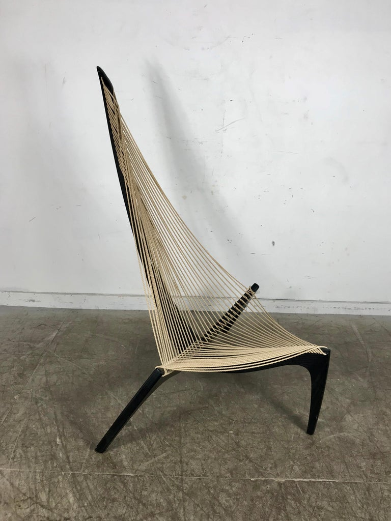 Original 1970 Jorgen Hovelskov Harp Chair Made in Denmark In Good Condition For Sale In Buffalo, NY