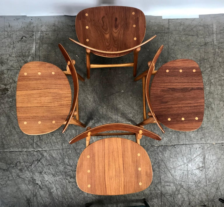 Set 4 Dining Chairs CH-30 Designed by Hans Wegner for Carl Hansen & Sons For Sale 1