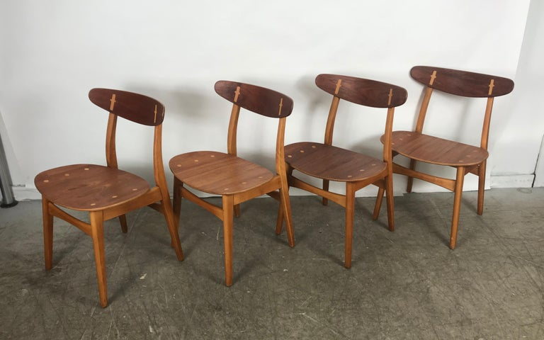 Set 4 Dining Chairs CH-30 Designed by Hans Wegner for Carl Hansen & Sons For Sale 2