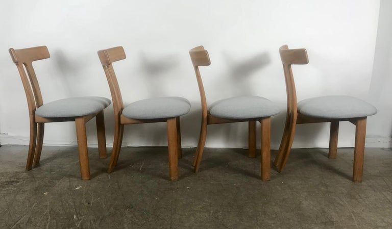 Danish Set 4 Dining Chairs Attributed to Ole Wanscher,