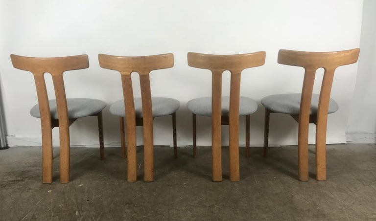 Stunning set of 4 dining chairs attributed to Ole Wanscher,