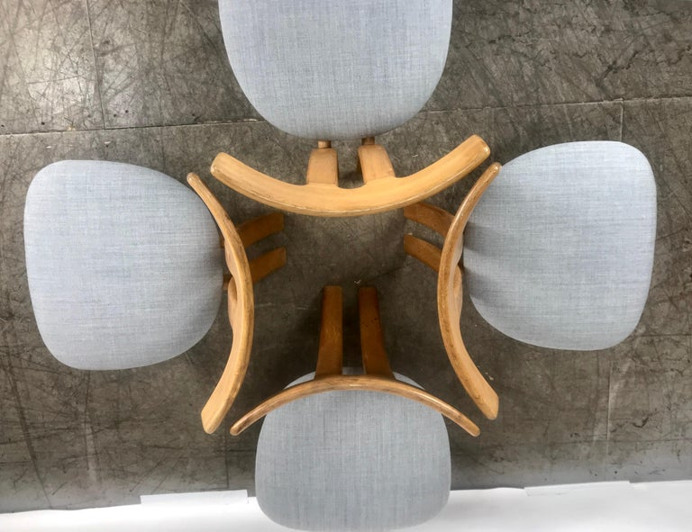 Mid-20th Century Set 4 Dining Chairs Attributed to Ole Wanscher,