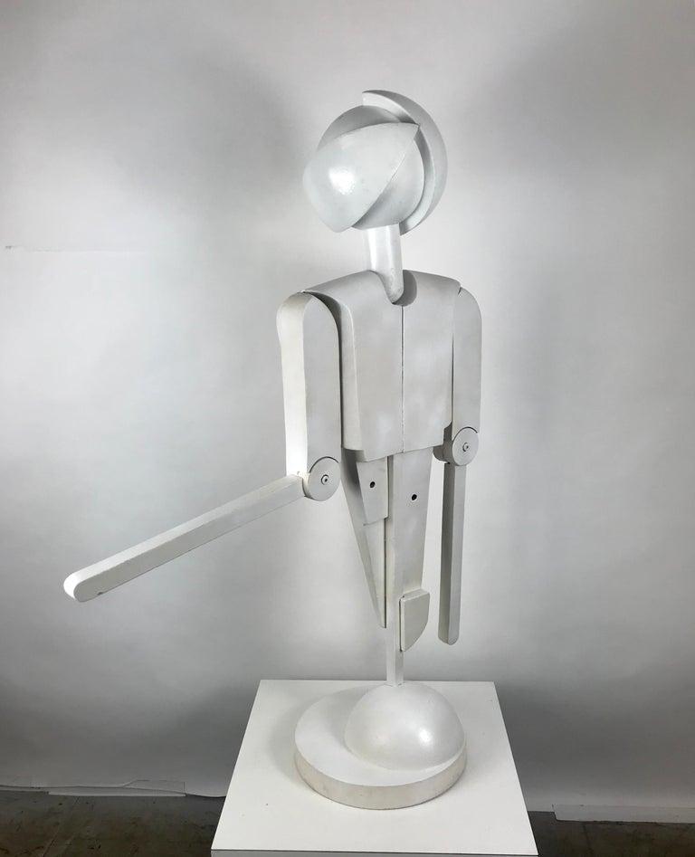 Unusual Bauhaus Style Cubist Articulated Mannequin after Oskar Schlemmer For Sale 2