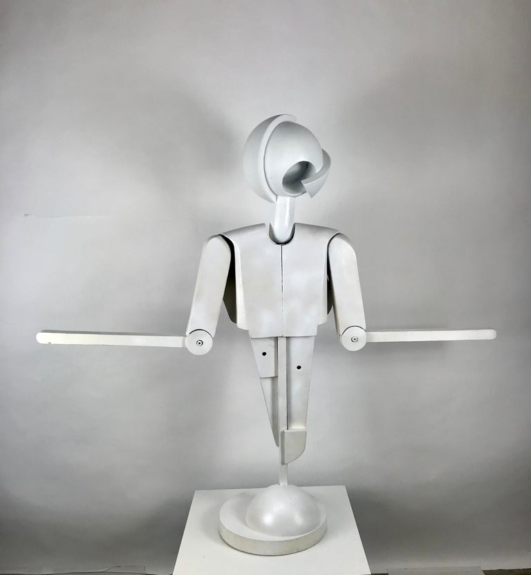 Unusual Bauhaus Style Cubist Articulated Mannequin after Oskar Schlemmer For Sale 3