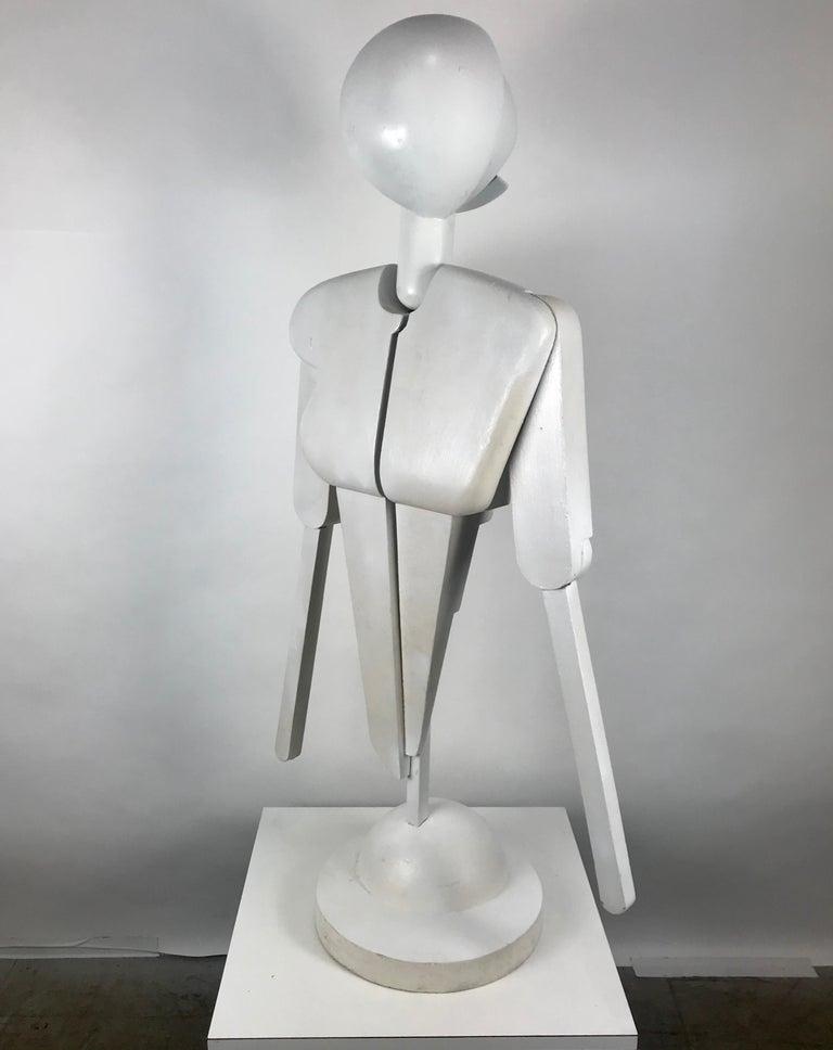 Unusual Bauhaus Style Cubist Articulated Mannequin after Oskar Schlemmer For Sale 1